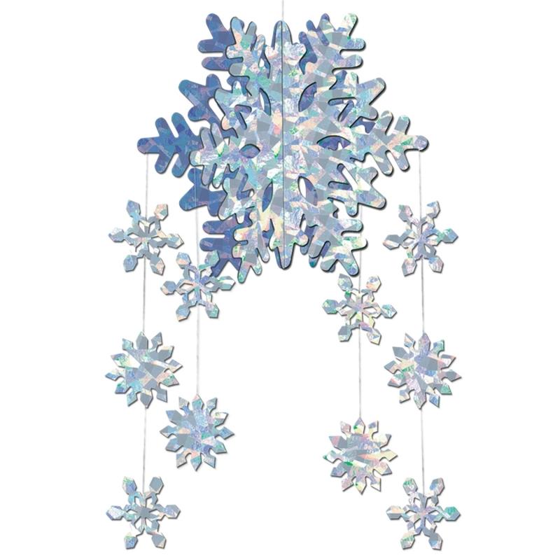 3D sneeuwvlokken plafond decoratie