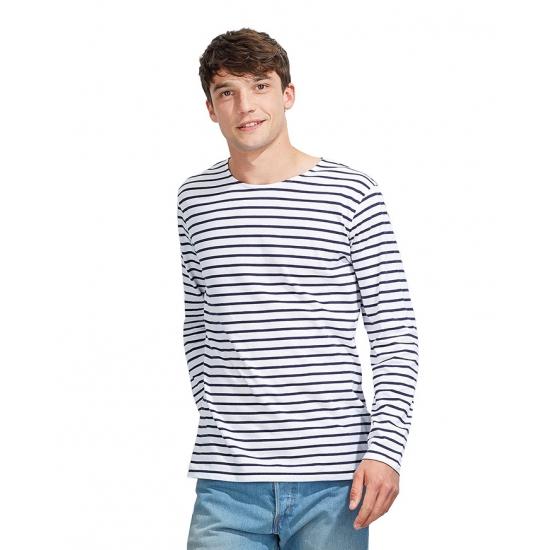 Dorus Tshirt Wit Met Blauw Voor Heren Sols kopen
