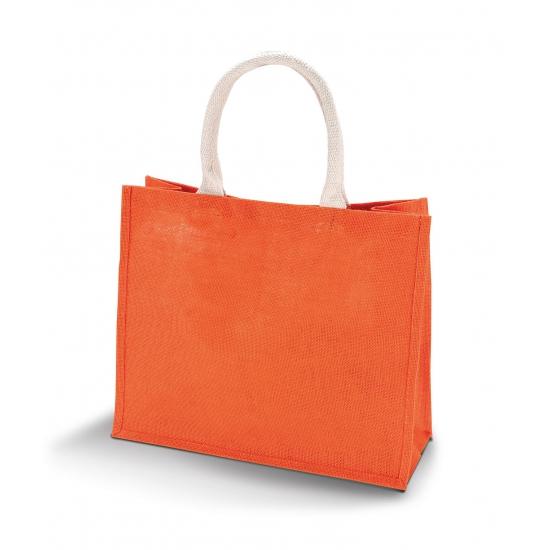 Gekleurde Oranje Strandtas Van Jute Bandana winkel kopen