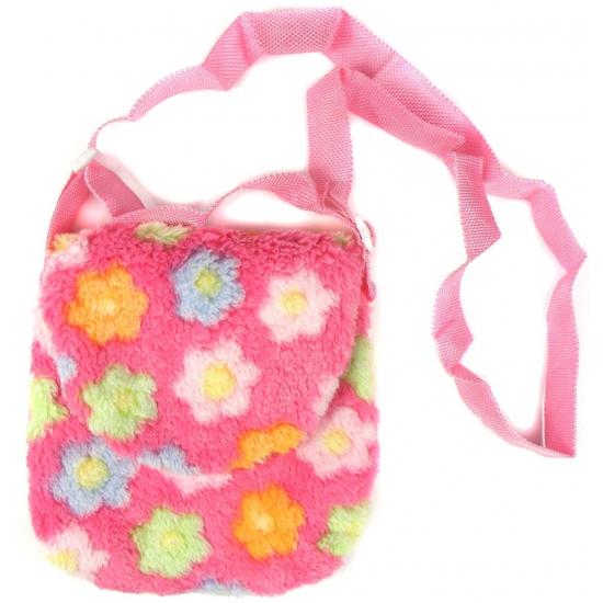 Roze Pluche Kindertas Met Bloemen Bandana winkel kopen