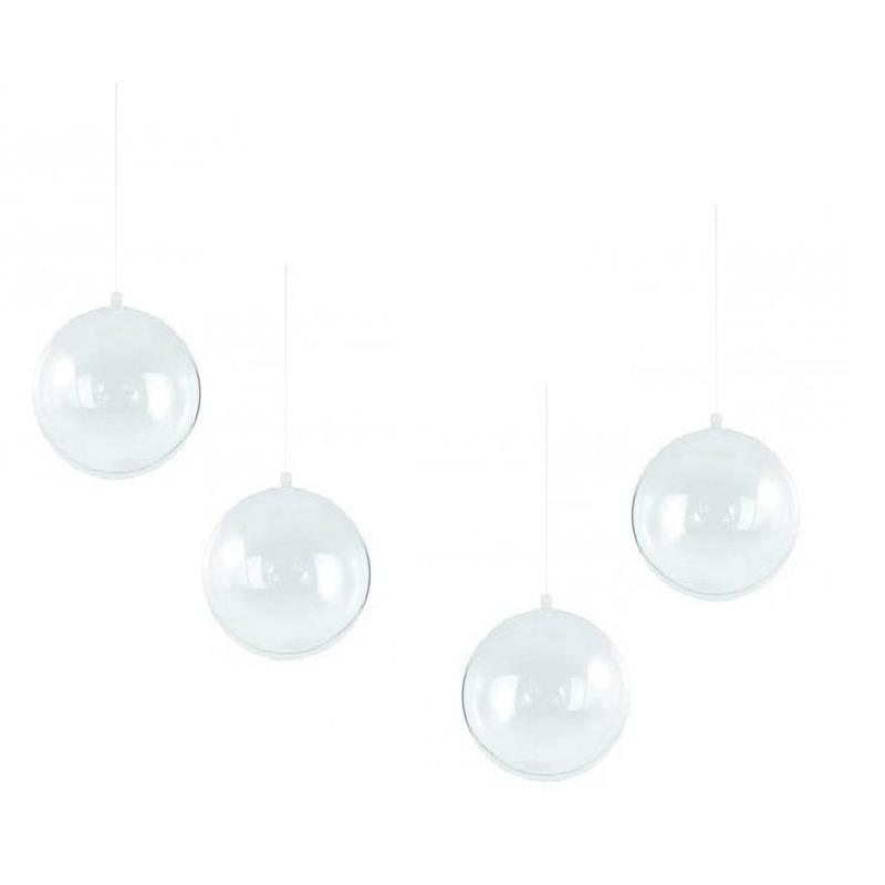 12x Plastic kerstballen vulbaar 14 cm