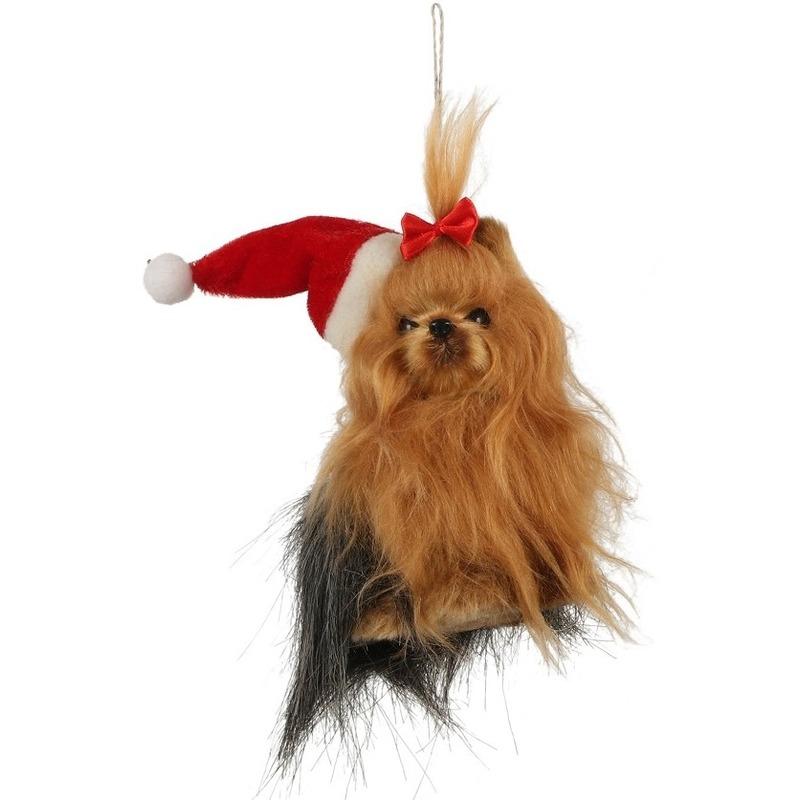 1x Kersthangers figuurtjes Yorkshire terrier hond 11 cm