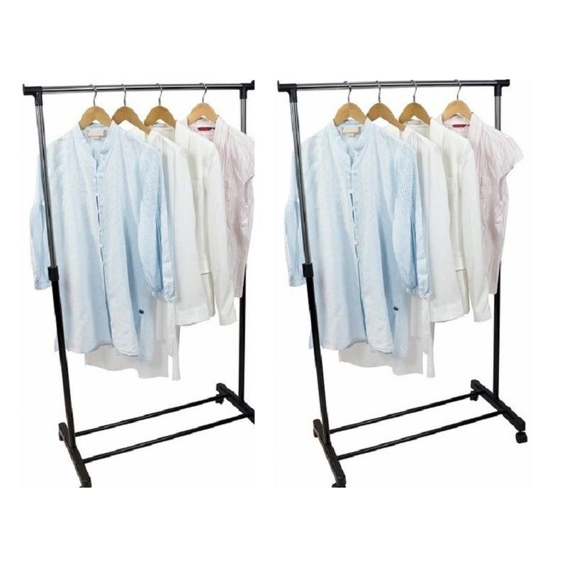 2x Mobiel kleren-kleding rekken 162 cm