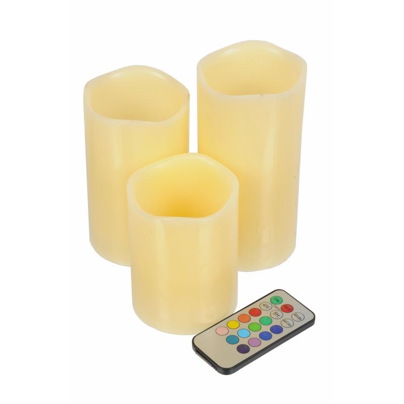 3 kaarsen met led-licht