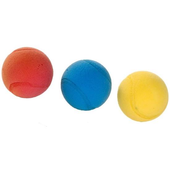 3x Tennis-soft-foam balletjes buitenspeelgoed