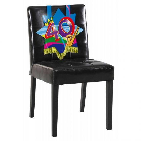 40 jaar decoratiebord voor op een stoel
