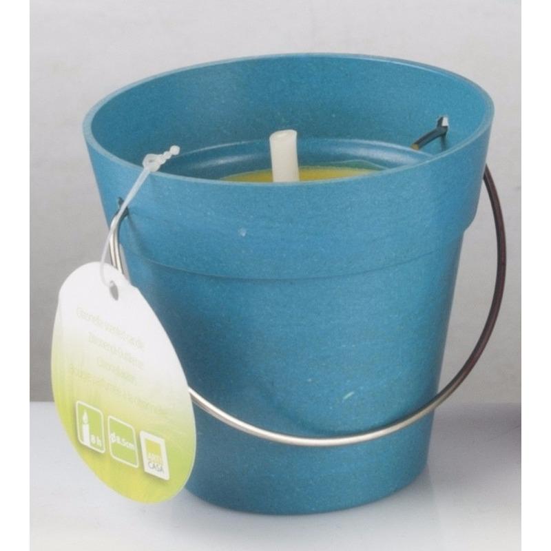 Anti muggen kaarsje in blauw emmertje Geen voordeligste prijs