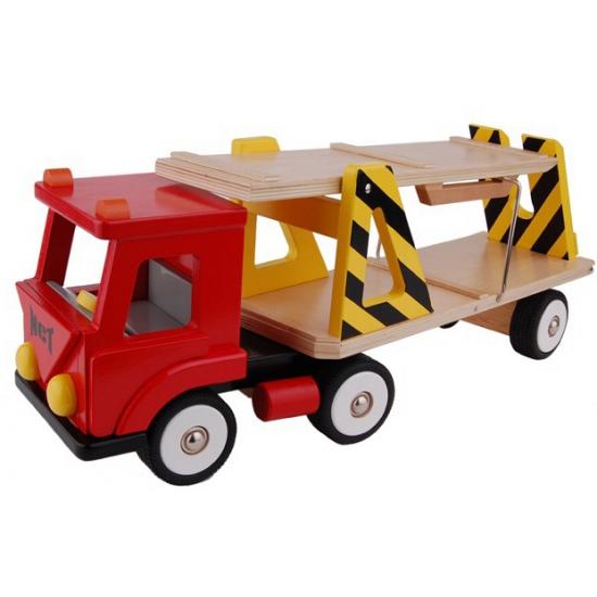 Auto transport vrachtwagen rood
