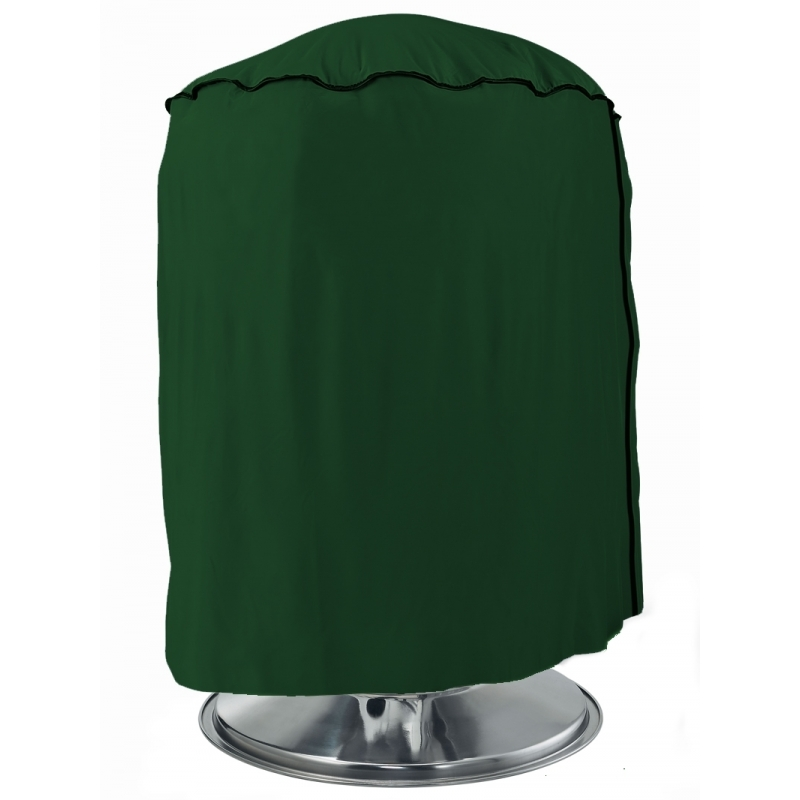 Beschermhoes groen rond voor de bbq