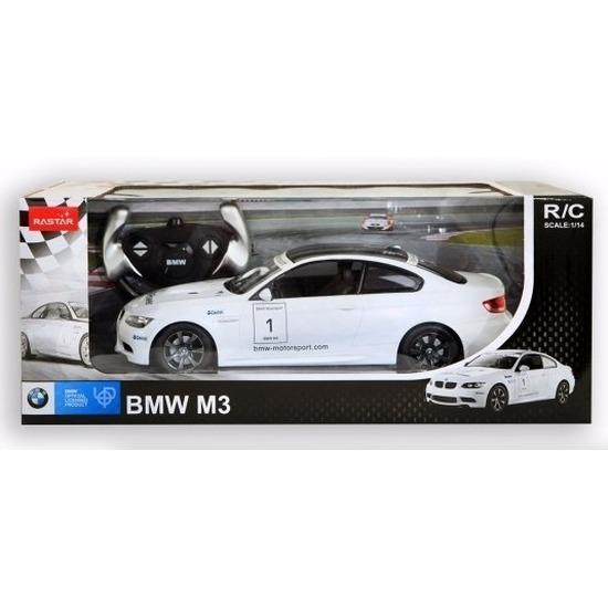 BMW M3 wit speelgoed auto met afstandsbediening 1:14