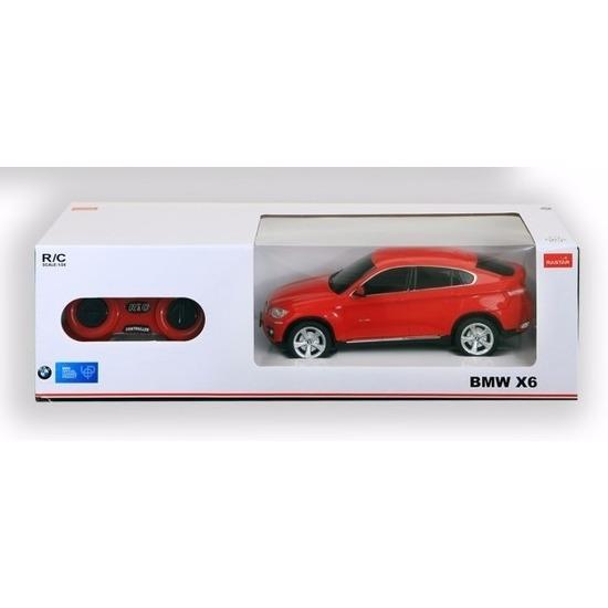 BMW X6 rood speelgoed auto met afstandsbediening 1:24