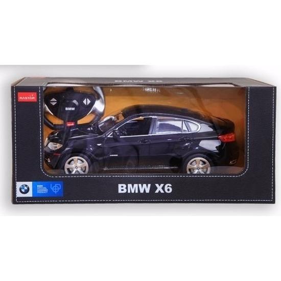 BMW X6 zwart speelgoed auto met afstandsbediening 1:14