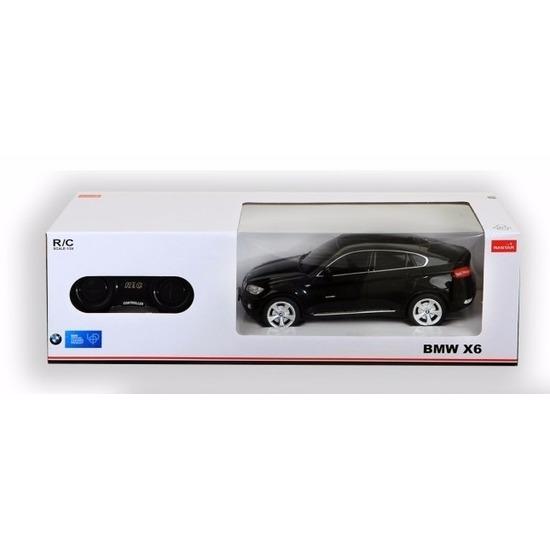 BMW X6 zwart speelgoed auto met afstandsbediening 1:24