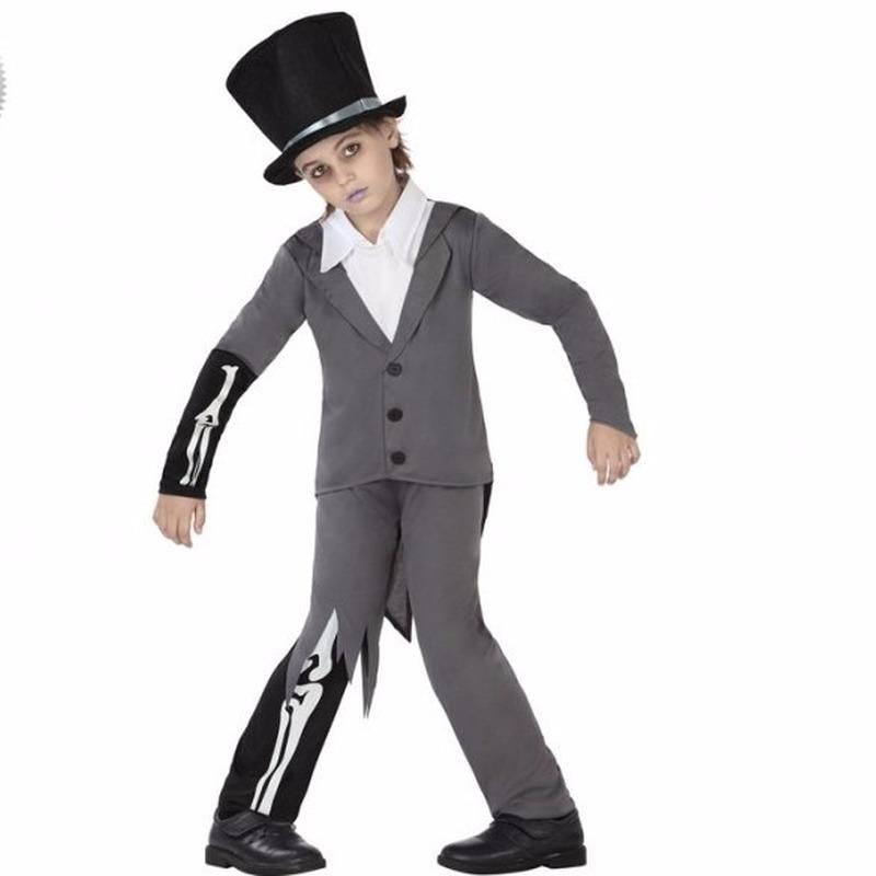 Carnaval bruidegom skelet pak voor kinderen