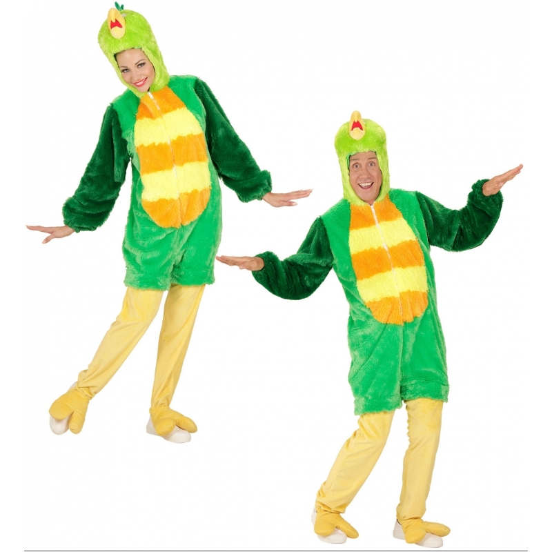 Carnavalskleding groene vogel