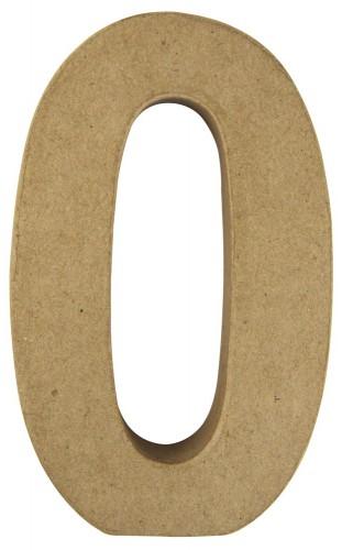 Cijfer 0 van papier mache voor decoratie