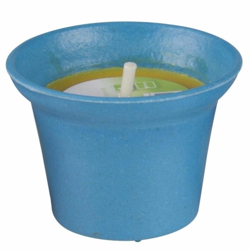 Citronella kaars 10 cm blauw Geen laagste prijs