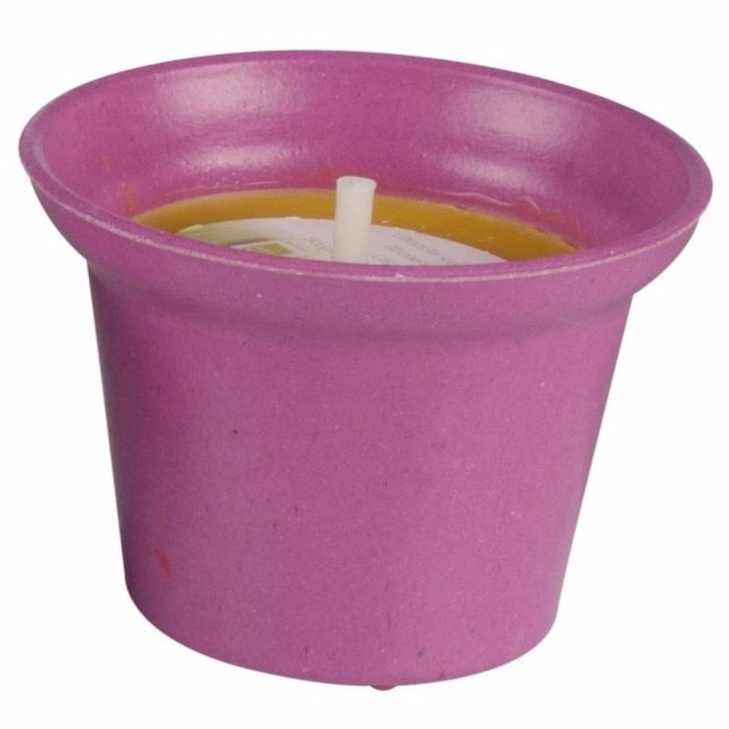 Geen Citronella kaars 10 cm roze Tuin artikelen
