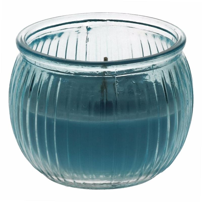 Citronella kaars 7,5 cm blauw Geen Tuin artikelen