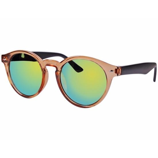 Bruine dames zonnebril ronde glazen model 7002   Bandana winkel ... f5d8f9146bac