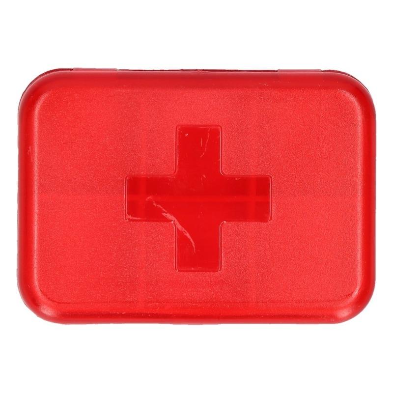 Compact pillendoosje-medicijndoos 6 vakken