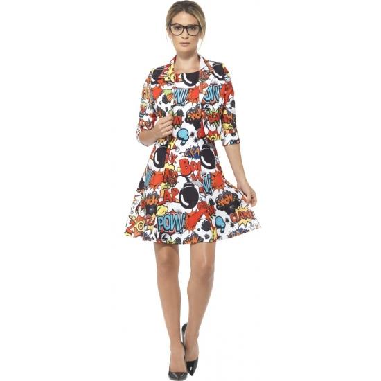Dames comic kostuum jurk met jasje