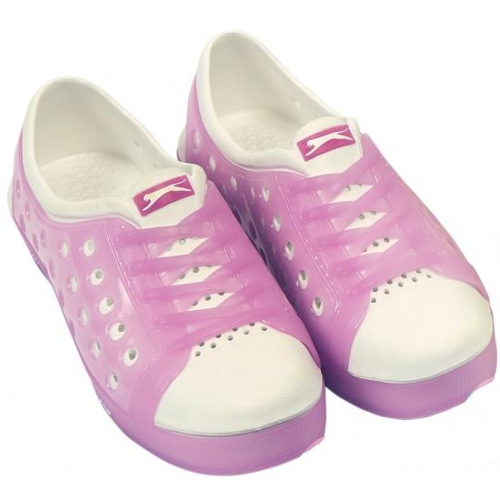 Dames waterschoen van het merk Slazenger in roze-wit