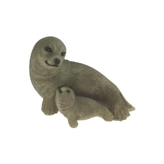 Decoratie beeldje zeehondje 11 cm