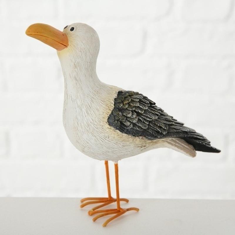 Decoratie dieren vogel beeldjes meeuw 15 cm