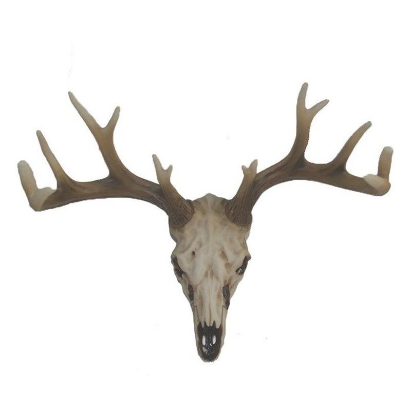 Decoratie herten skull met gewei 21 cm