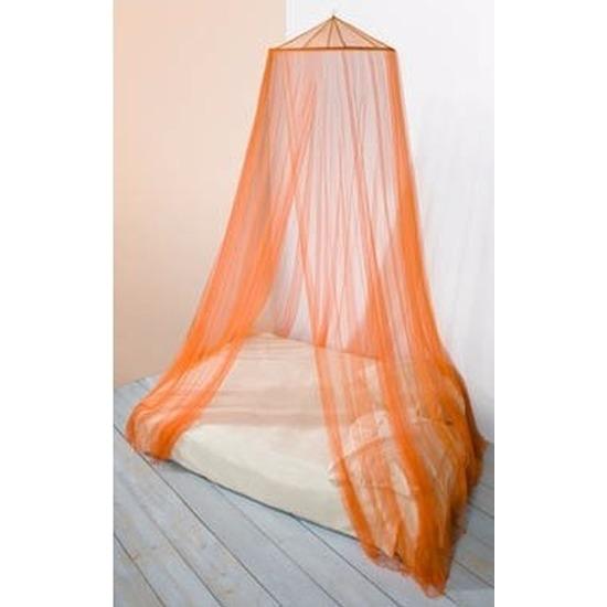 Woonaccessoires Bandana winkel Decoratie klamboe oranje 2 persoons muskietennet