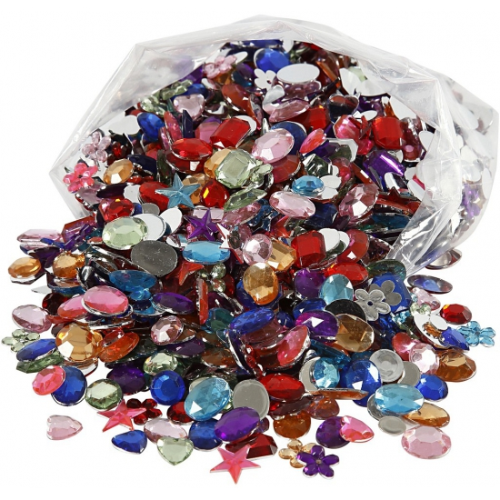 Decoratie plak diamantjes 1600 stuks