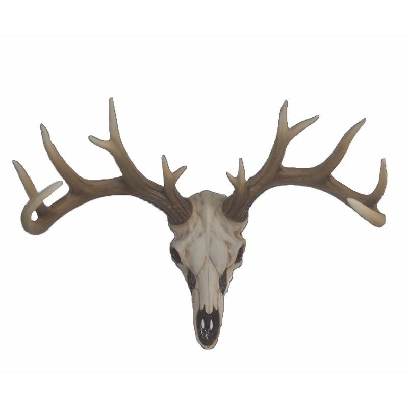 Decoratie skull hert schedel met gewei 56 cm