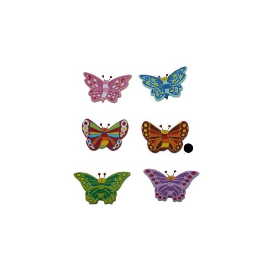 Decoratie vlinder magneet bruin