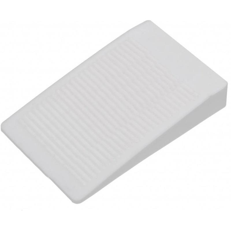 Deurstopper-deurwig rubber wit 16 mm