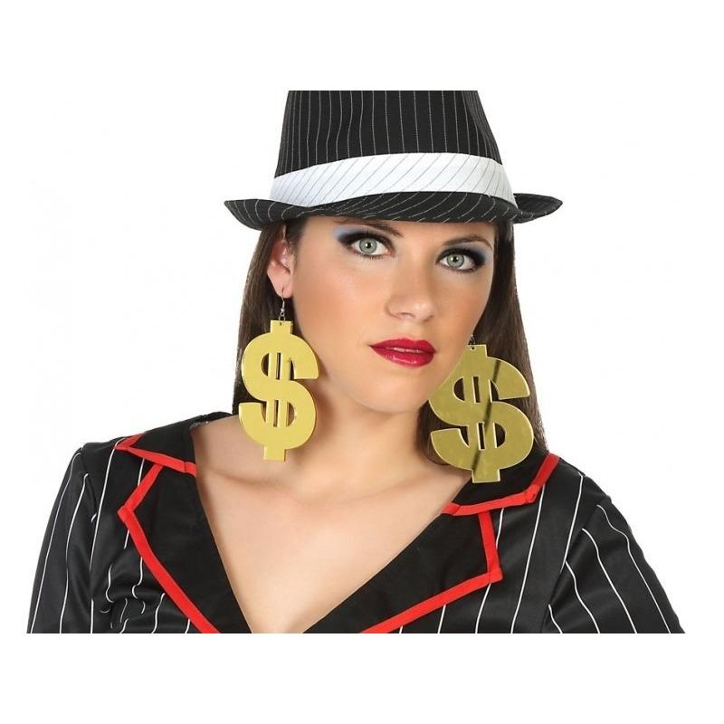 Dollar verkleed oorbellen voor volwassenen