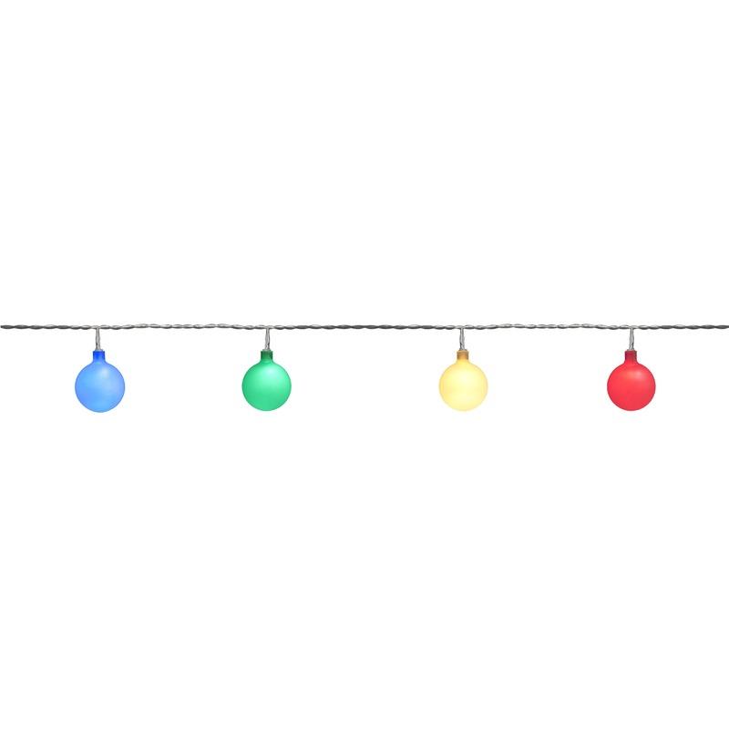 Feest tuinverlichting snoer 10 meter gekleurde LED verlichting