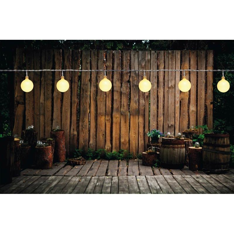 Feest tuinverlichting snoer 10 meter warm witte LED verlichting
