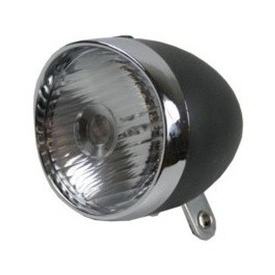 Fiets accessoires verlichting LED koplamp zwart-zilver op batterijen