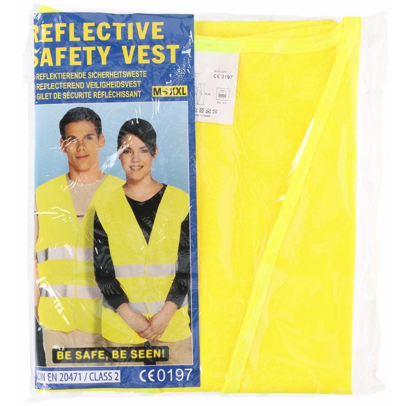 Overige kleding Lifetime Geel veiligheidsvest voor volwassenen