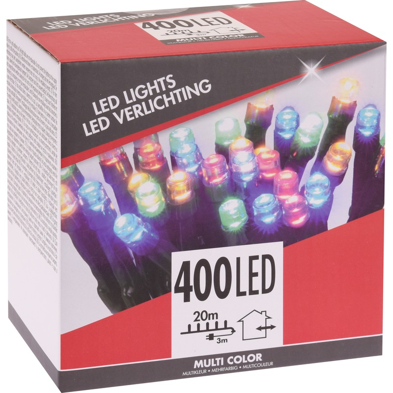 Gekleurde budget boomverlichting binnen en buiten 400 lampjes