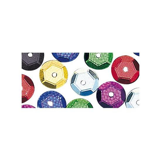 Gekleurde pailletjes 6 mm 500 stuks