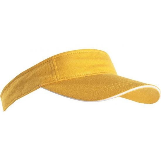 Gele zonneklep
