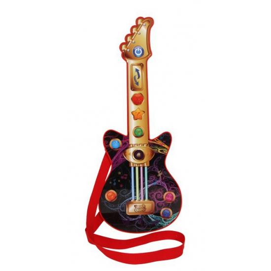 Gitaar met muziekinstrumenten geluiden