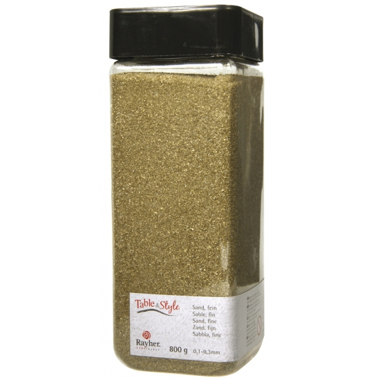 Gouden decoratie zandkorrels fijn