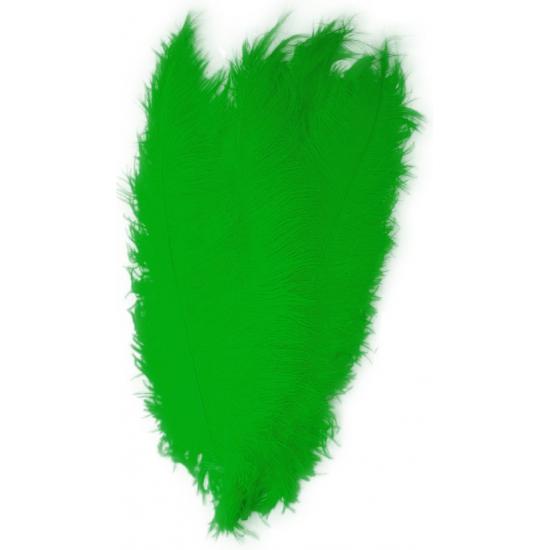 Groene decoratie veren 50 cm