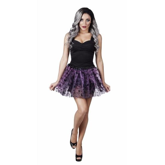 Halloween kleding damesrok met vleermuizen