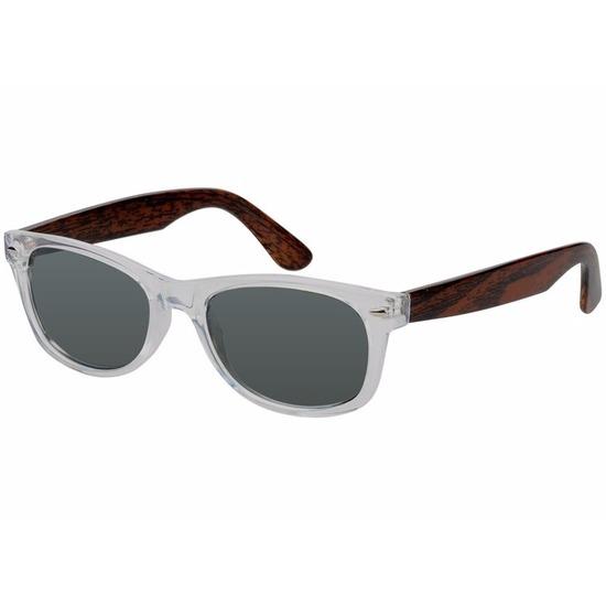 Houtlook Clubmaster zonnebril zwart