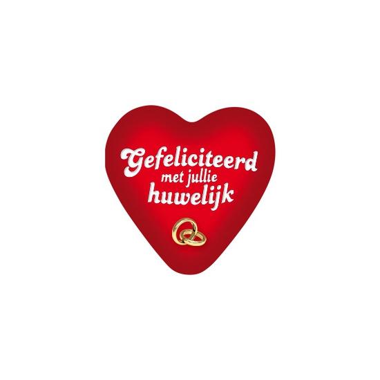 Huwelijk bord in hartvorm