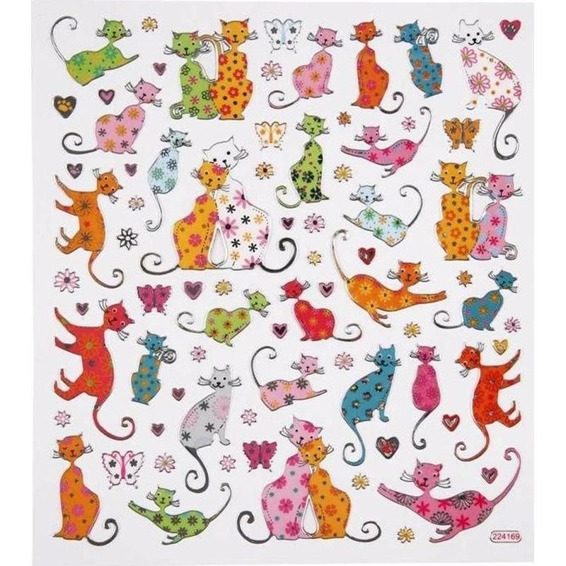 Geen Katten thema kinder stickers Schoolspullen